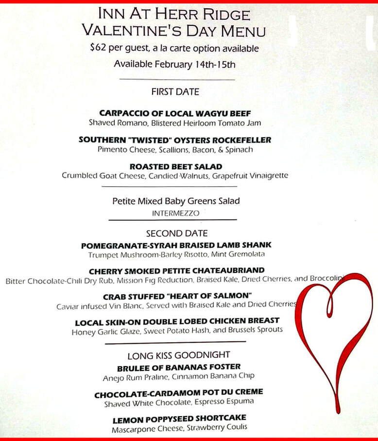 Valentine's Dinner, Dining in Gettysburg, Valentine's Day Dinner